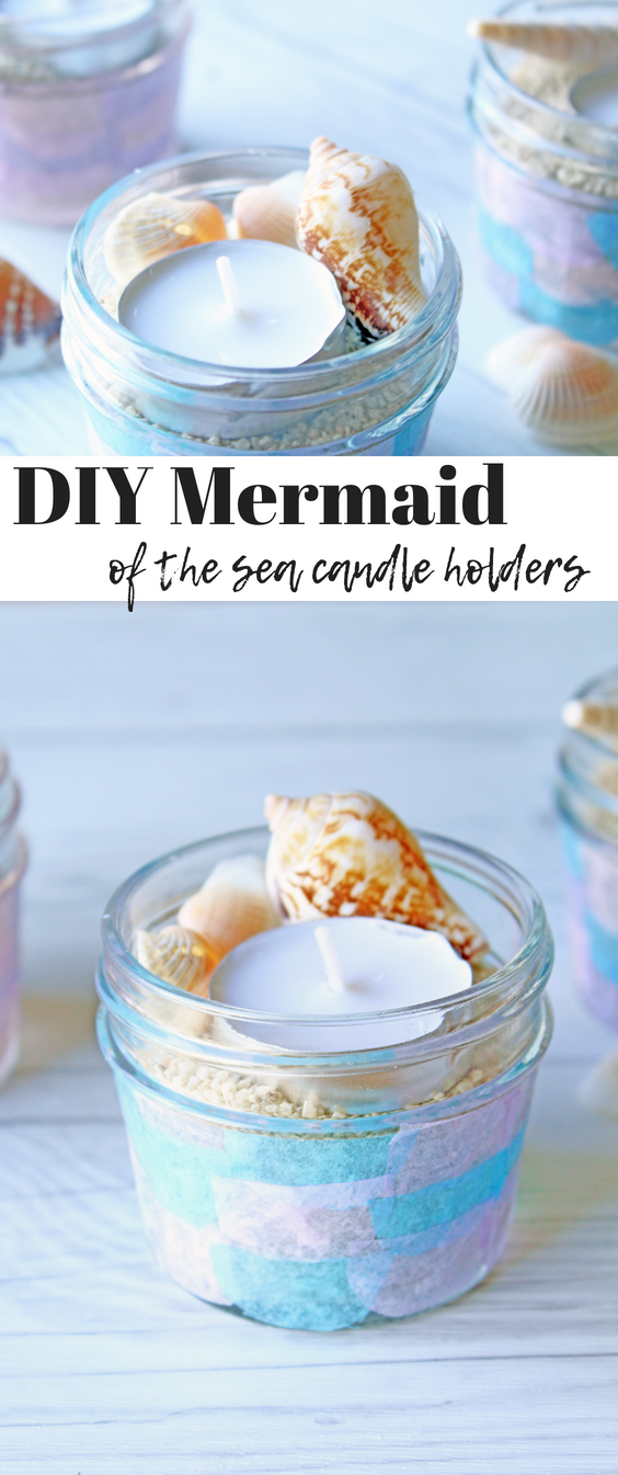 """DIY Mermaid of the Sea Candle holders"""" /></div> <div class="""