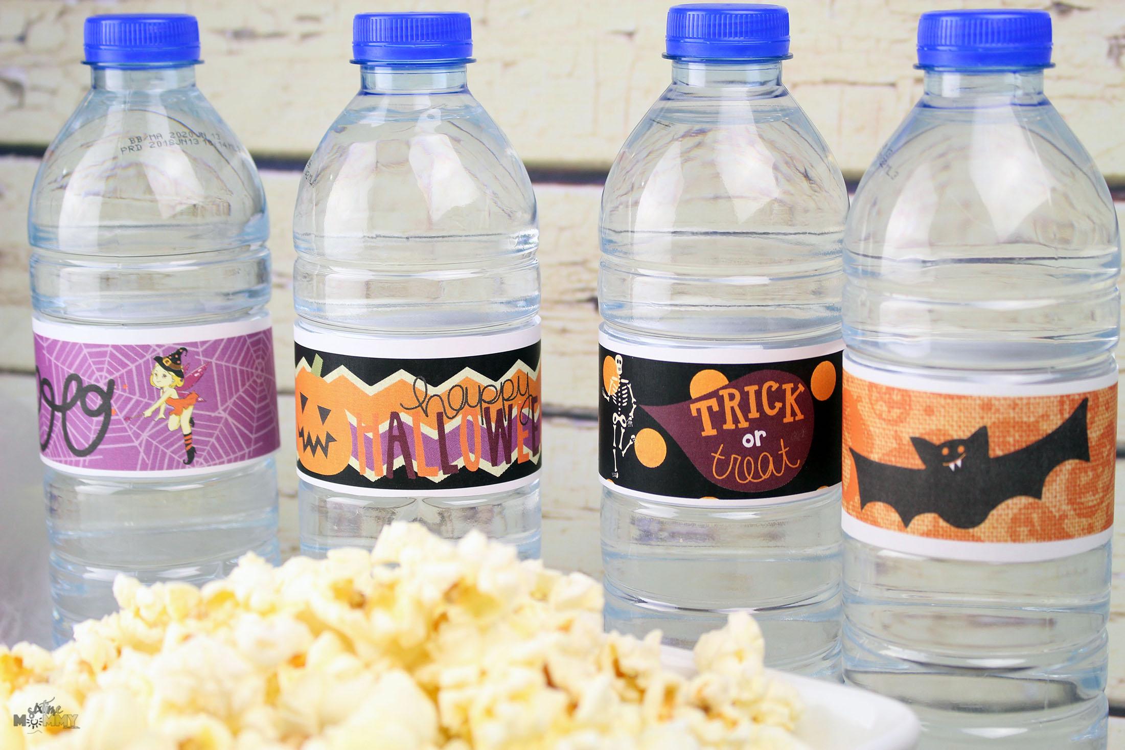 Halloween Water Bottle Label Printables