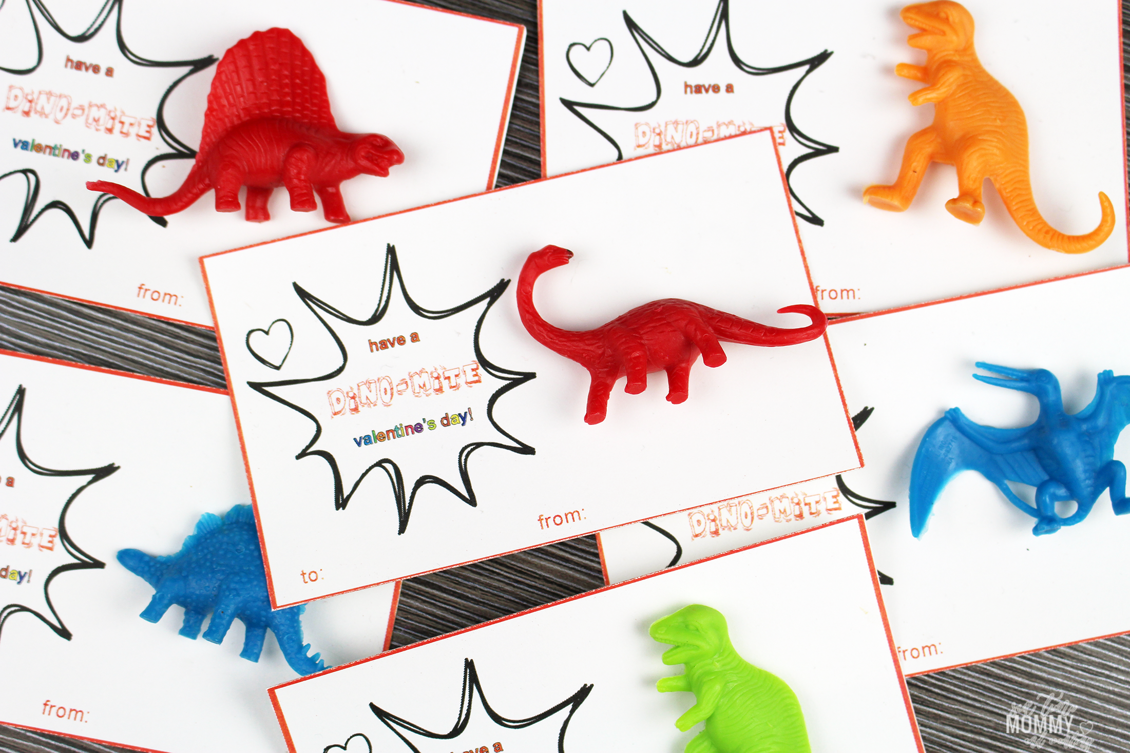 graphic about Free Printable Dinosaur named No cost Printable Dinosaur Valentines Working day Playing cards - 6 Year